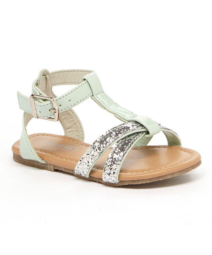 Loving this Capelli New York Mint Glitter T-Strap SAndal on #zulily! #zulilyfinds