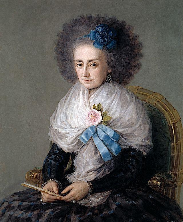 1795 María Antonia Gonzaga, Marquise widow of Villafranca by Francisco de Goya y Lucientes (Museo Nacional del Prado - Madrid Spain)