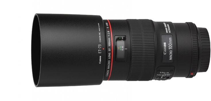 Objectif Canon 100mm 2.8 L Macro IS USM + pare soleil + filtrePoids 625gFocale 100 mmOuverture f/2.8Type de reflex  24x36 et APS-CStabilisé OuiMotorisé OuiDiamètre du filtre 67 mmDistance de mise au point 0,30 mGrossissement maxi. 1 x