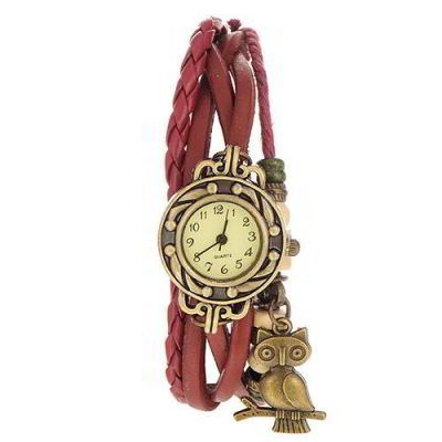 Owl Shape Decorated Multilayer  Claret Red. Fashionable with passion REPIN if you like it.😍 Only 65 IDR