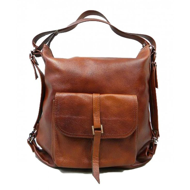 Interestingly design and shape. The bag is handmade made in art studio Ada'Miak. An original women's bag, which can be used as a shoulder bag and backpack. The designer tried the major challenge to establish a functional and stylish ladies leather bag, to do justice. If this is successful? In our op