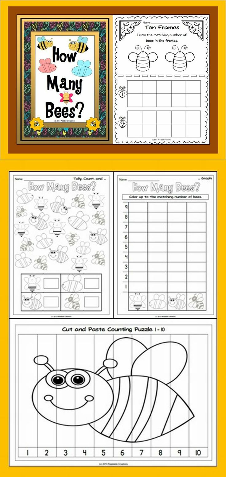 This math unit has a bee theme. Your students will have fun counting bees. (PK-1)