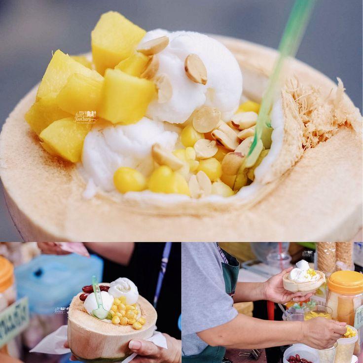 Coconut Ice Cream at Chatuchak Weekend Market Thailand