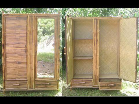 Camas y muebles de bambu para dormitorio