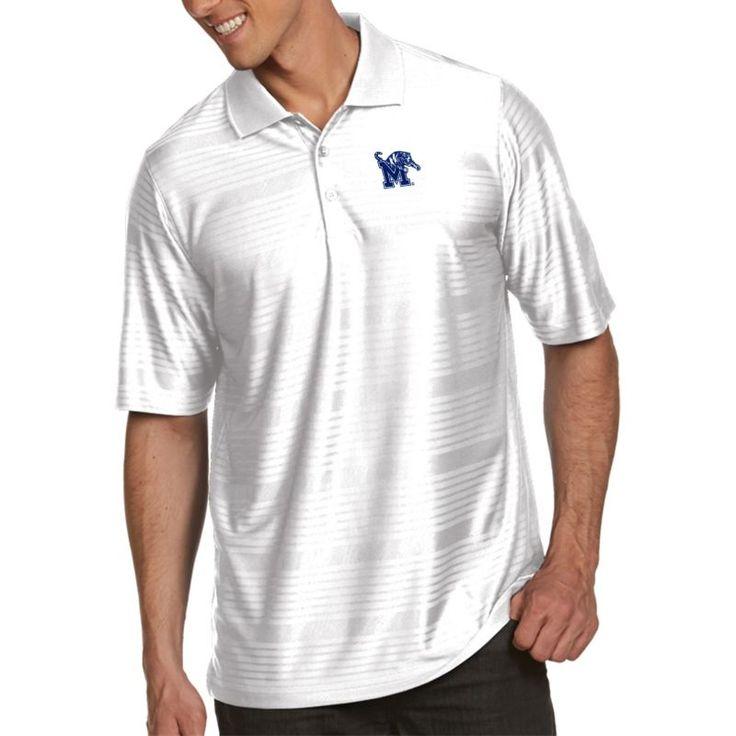Antigua Men's Memphis Tigers White Illusion Polo, Size: Small, Team