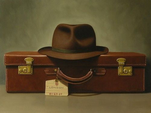 Paul Coventry-Brown 'Leaving on a Jet Plane' stil-life
