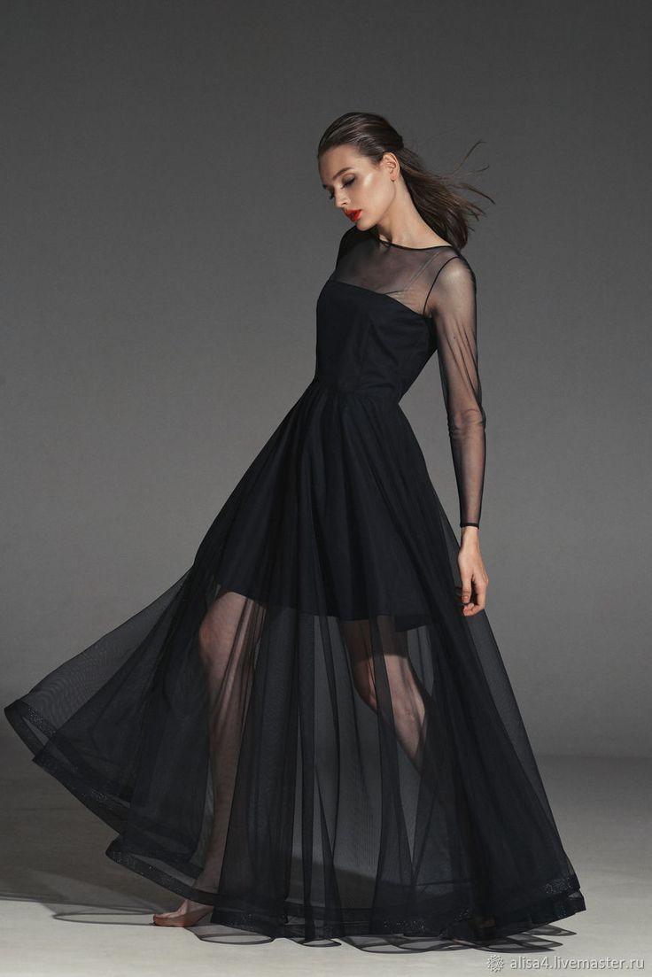 Evening dress | Купить Платье сетка черное прозрачное - платье на вечер, вечернее платье, платье на выпускной, выпускница