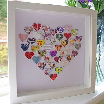 V-Day or wedding card http://www.notonthehighstreet.com/lollyandboo/product/heart-of-hearts-picture