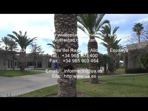 Государственный университет Аликанте, Испания (Universidad de Alicante)....