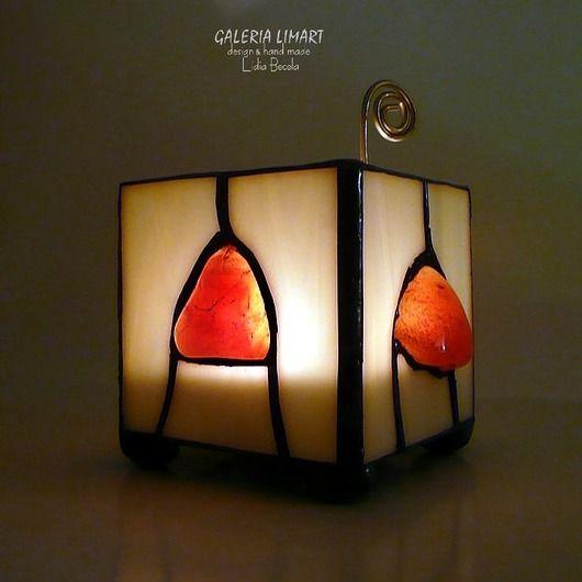 Carnelian highlighted. Lanterns candlestick hand-made, charming GIFT // Karneol podświetlony. Lampion-świecznik hand made, uroczy PREZENT :)