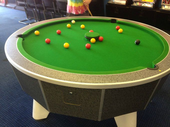 Have you seen a round version of bumper #pool? This is my first time seeing this.