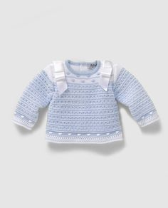 Jersey de bebé niño en azul con bodoques