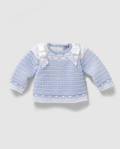 Jersey de bebé niño en azul con bodoques                                                                                                                                                                                 Más