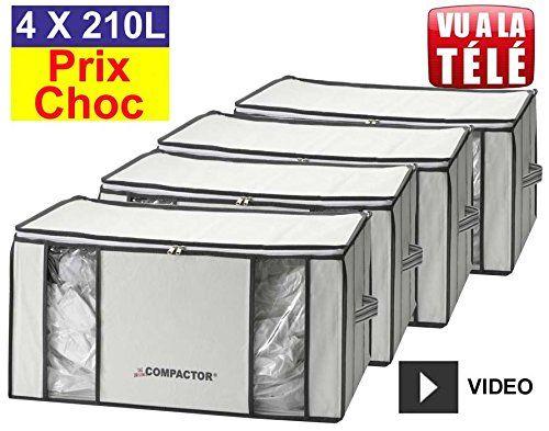 Lot promo de 4 housses Compactor 210 Litres: Lot promotionnel de 4 housses Compactor 210L à Prix Choc. Cette housse de rangement Compactor…