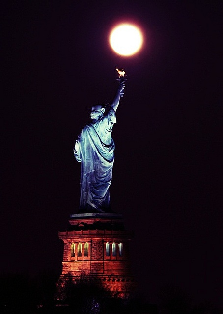 Statue of Liberty ~ Hanging the Moon