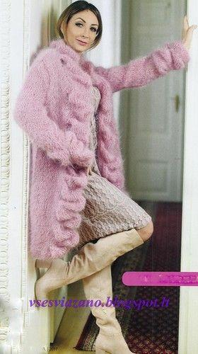 Мобильный LiveInternet Вязаное пальто или жакет цвета пыльной розы. | ROSOMAHA12 - Дневник ROSOMAHA12 |