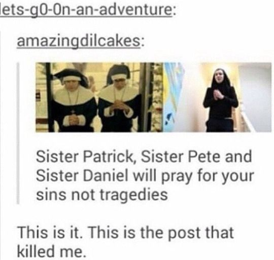 THIS POST KILLED ME - Patrick stump Pete wentz and Dan Howell (danisnotonfire) >> THIS IS SO MANY THINGS I DONT KMOW WHERE TO PUT IT