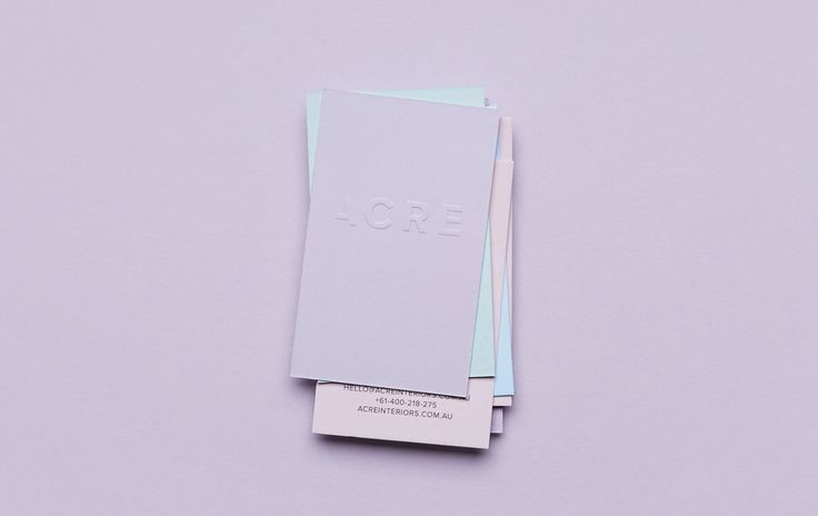 ACRE Interiors — Business Cards