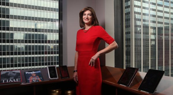 Time Inc's new CEO - Laura Lang. She enters Time Inc. as the first chief executive from outside the industry and a female leader in a company with a reputation for being hypermasculine and marketer-averse