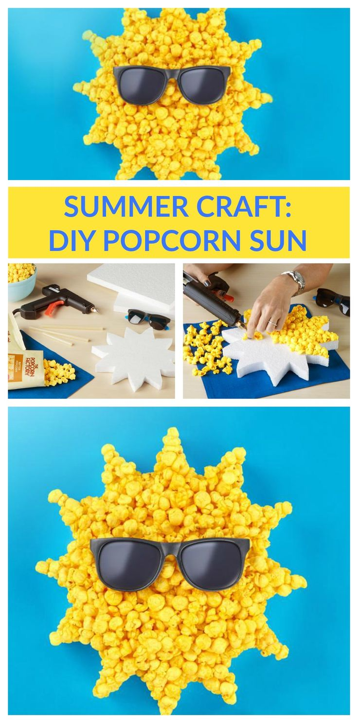 Check out this fun and easy DIY for the summer! Be sure to pick up enough popcorn from The Popcorn Factory to craft with--and to eat!