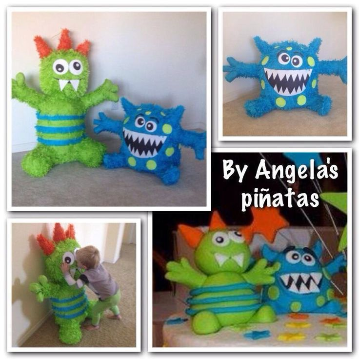 Little Monster Pinata Green Monster Blue Monster Hand Made Custom Pinata Little Monster birthday Blue poka dot green little monster pinata by angelaspinatas on Etsy https://www.etsy.com/listing/170359375/little-monster-pinata-green-monster-blue