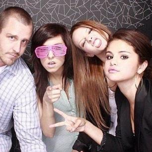 Brian Teefey, Christina Grimmie, Sammy Droke and Selena Gomez