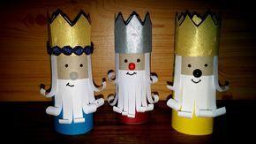 Como fazer os três reis magos - DIY - How to make the Christmas Three Kings Mais