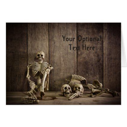 Skeletons custom greeting card - Halloween happyhalloween festival party holiday