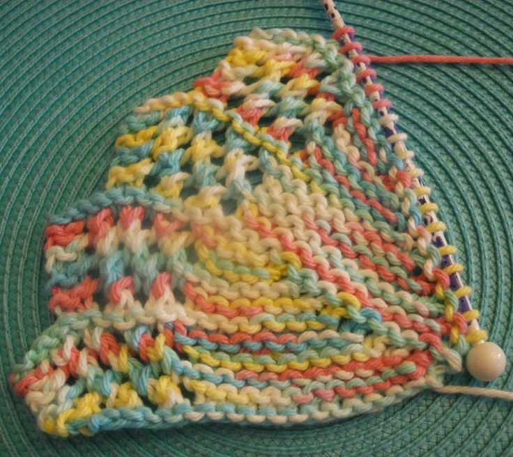 Monthly Dishcloth Overflow: April 16 KAL Day 2 and finish