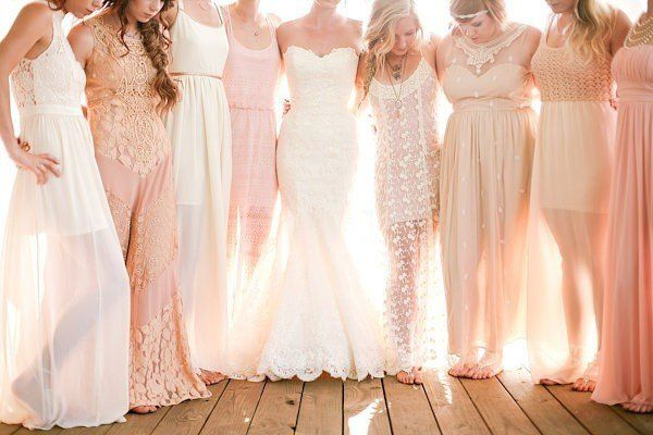 To match or not to match? That is the bridesmaid question. @myweddingdotcom