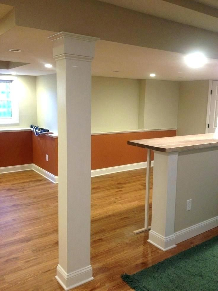 Ideas For Covering Up Beams Support Columns Column Wrap Home Depot Images Basement Design Cover Covers Basement Poles Basement Pole Covers Basement Remodeling
