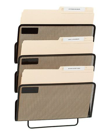 threeslot wall file organizer zulilyfinds