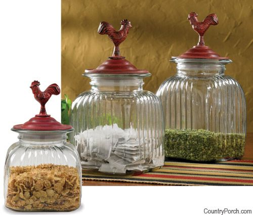 22 best images about canisters on pinterest pewter red for Glass jar kitchen ideas
