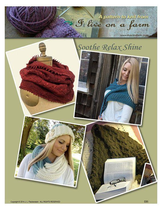 Knitting Patterns eBook Cowl Infinity Scarf by ILiveonaFarm