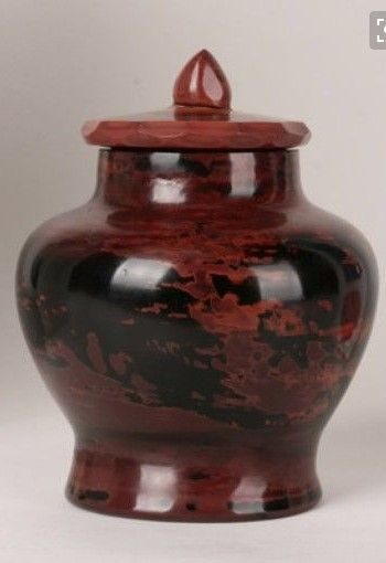 Rare Lithyalin Glass Vase or Jar - Friedrich Egermann