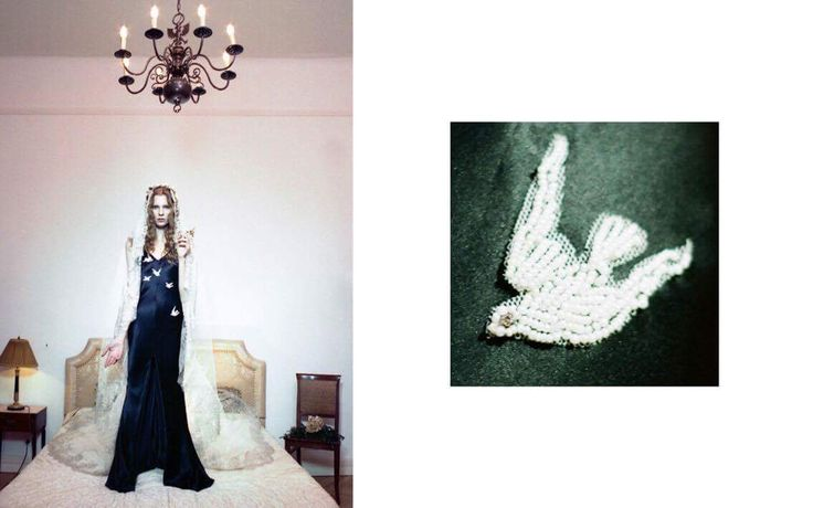 The Cupido silk slipdress with hand beading / Nora Sarman / photo Eva Szombat / concept and hair Judit Iglody / make up Barbara Keseru / model Viktoria Icon