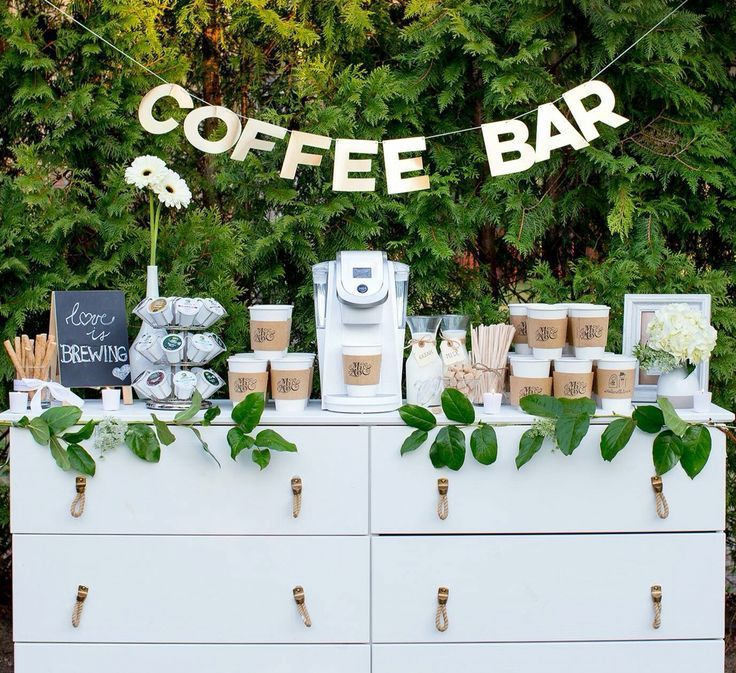 Kaffeebar als Candybar-Alternative! #Hochzeit #Bonbon #Alternative #Kaffeebar ..  #badezimmerideen