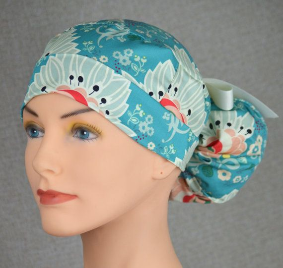 The Perfect Fit Ponytail Scrub Hat Original by thehatcottage
