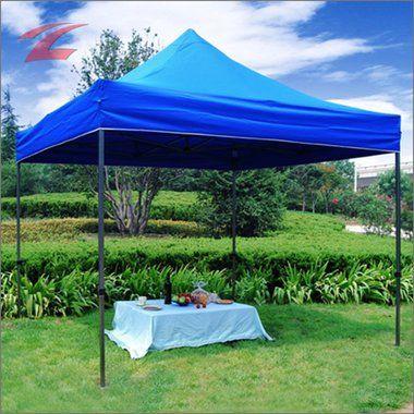 Faltpavillon 3 x 3, aus Polyester mit PVC-Beschichtung, wasserdicht, UV-beständig, pulverbeschichtetes Stahlgestell, 3030D-Blau