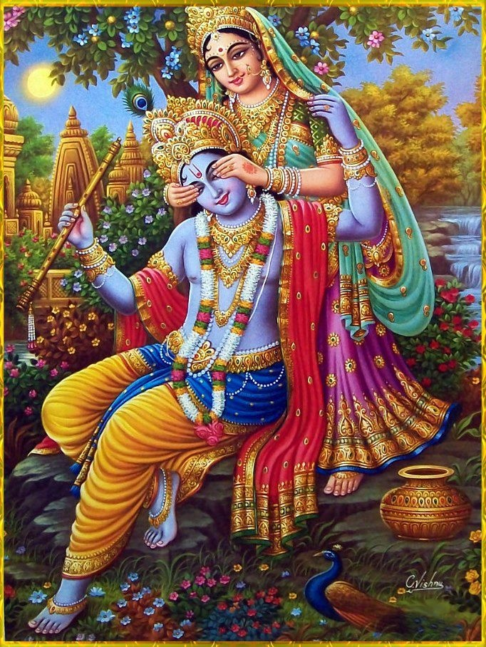 Krishna with a special gopi