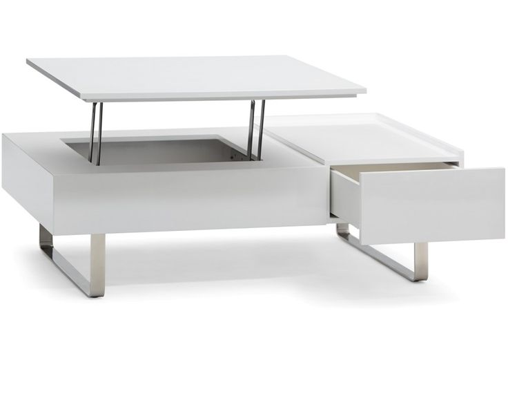 EVO - Storage coffee table - White