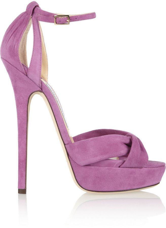a195df4ec498 Jimmy Choo Greta suede sandals on shopstyle.com