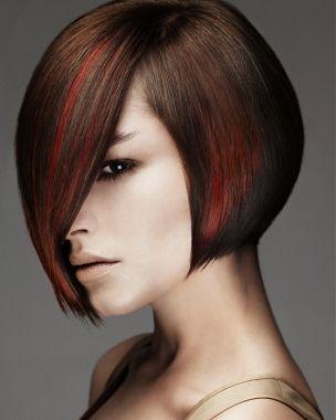 Red Highlights: Haircuts, Idea, Bobs Hairstyles, Hair Cut, Beautiful, Bob Hairstyles, Shorts Hair Style, Hair Color, Red Highlights