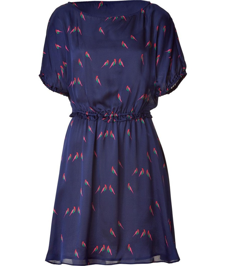 Blue Multicolor Finch Charm Dress by Marc By Marc Jacobs: Finch Charms, Marc Jacobs, Charms Dresses, Products