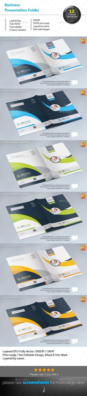 BizOpen Presentation Folder - Stationery Print Templates