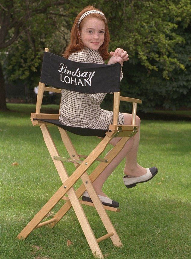 Lindsay Lohan on the set of The Parent Trap, 1998  Where is the other chair for the other Lindsay Lohan?