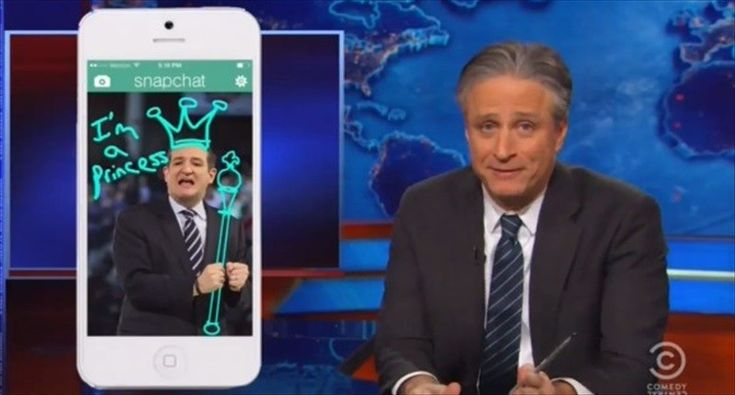 Jon Stewart hammers Ted Cruz's presidential announcement: Not even Romney needed to rehearse kissing