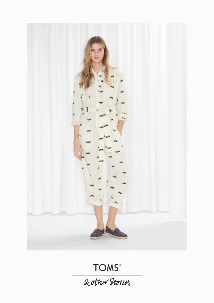 & Other Stories image 2 of TOMS Cotton Jumpsuit  in Beige