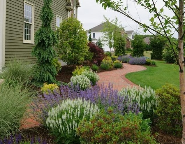 260 best images about landscaping on pinterest gardens for Foundation garden designs