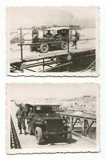 GREECE HELLENIC ARMY MILITARY VEHICLES JEEPS 2 OLD PHOTOS